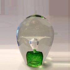 Green Geyser Small Glass Cremation Keepsake
