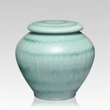 Green Grass Medium Cremation Urn