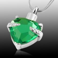 Green Heart Cremation Jewelry