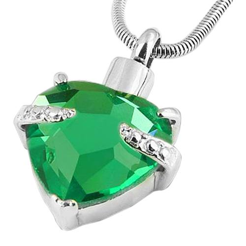Green Heart Necklace For Ashes