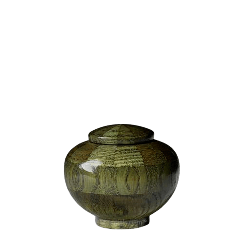 Green Keepsake Wood Urn