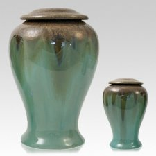 Green Meadows Ceramic Cremation Urns