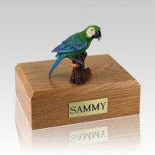 Green Parrot X Large Bird Cremation Urn
