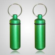 Green Pet Keepsake Keychains