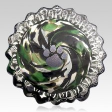Green Swirl Pet Keepsake Urn