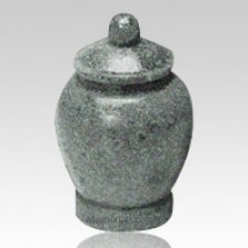 Grey Jar Cultured Granite Pet Cremation Urn