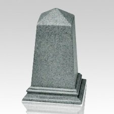 Grey Obelisk Cultured Granite Pet Cremation Urn