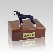 Greyhound Black Medium Dog Urn