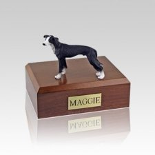 Greyhound Black Small Dog Urn