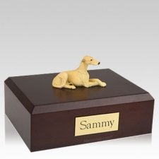 Greyhound Fawn X Large Dog Urn
