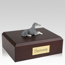 Greyhound Grey Laying X Large Dog Urn