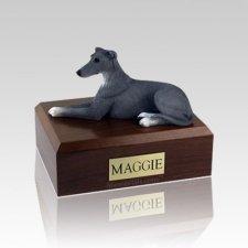 Greyhound Grey Medium Dog Urn