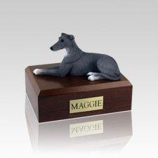 Greyhound Grey Small Dog Urn