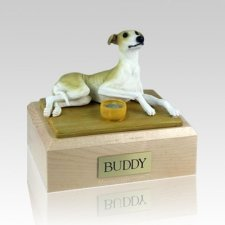 Greyhound Tan Large Dog Urn