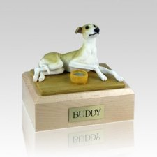 Greyhound Tan Medium Dog Urn