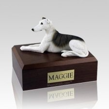 Greyhound White & Brindle Dog Urns