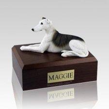 Greyhound White & Brindle X Large Dog Urn