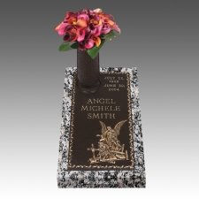 Guardian Angel Children Bronze Grave Marker