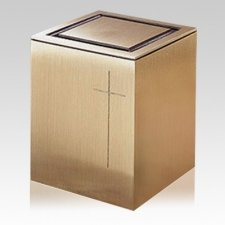 Guardian Cross Bronze Cremation Urn
