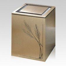 Guardian Wheat Bronze Cremation Urn