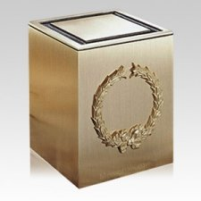 Guardian Wreath Bronze Cremation Urn