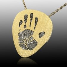 Guitarist 14k Gold Cremation Print Keepsake