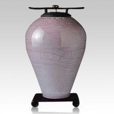 Raku Tall Metallic Blue Cremation Urns