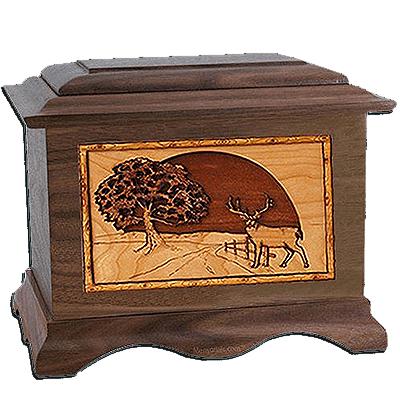 Heartland Deer Walnut Cremation Urn For Two