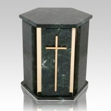 Hexagon Blue Tone Granite Urn