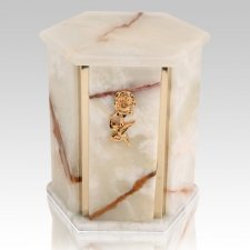 Hexagon Mink Onyx Marble Urn