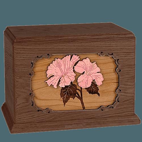 Hibiscus Walnut Companion Urn