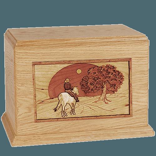 Horse & Moon Maple Companion Urn