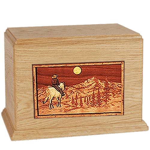 Horse & Mountain Maple Companion Urn