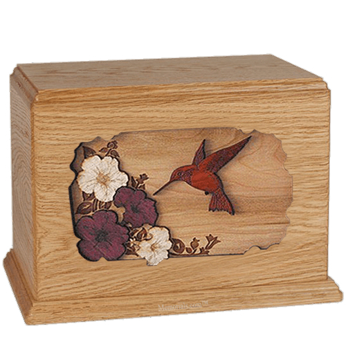 Hummingbird Oak Companion Urn