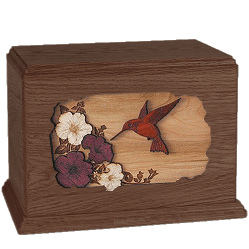 Hummingbird  Walnut Companion Urn