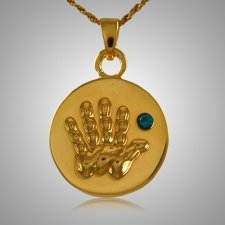 Blue Stone Handprint Keepsake Jewelry IV