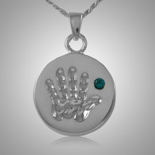 Blue Stone Handprint Keepsake Jewelry