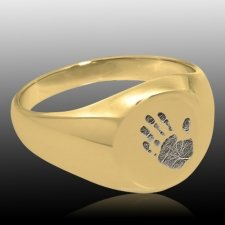 Handprint 14k Gold Cremation Ring