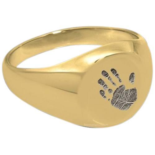 Handprint 14k Gold Cremation Ring