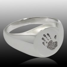 Handprint 14k White Gold Cremation Ring