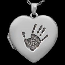 Handprint Locket Keepsakes