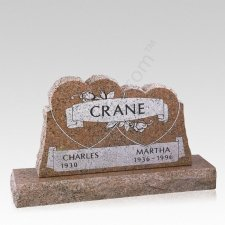 Harmony Companion Granite Headstone