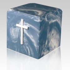 Harmony Cross Marble Cremation Urn