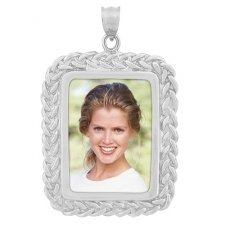 Harmony White Gold Photo Pendant