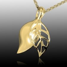 Harvest Leaf Cremation Pendant IV