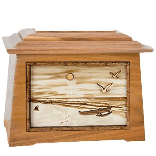 Hawaiian Oak Aristocrat Cremation Urn