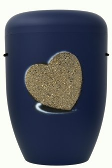 Heart Biodegradable Urn in Blue