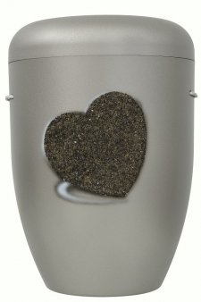 Heart Biodegradable Urn in Steel
