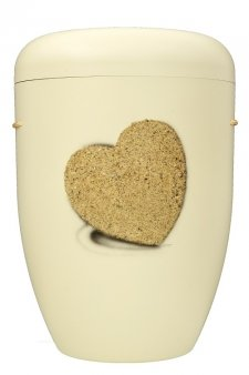 Heart Biodegradable Urn in White