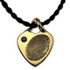 Heart 14K Gold Print Keepsake